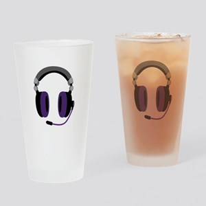 Video Gamer Headset Drinking Glass