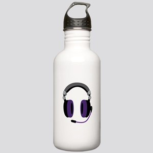 Video Gamer Headset Water Bottle