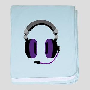 Video Gamer Headset baby blanket