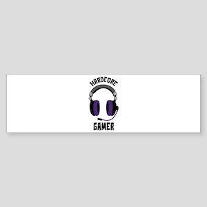 Hardcore Gamer Bumper Sticker