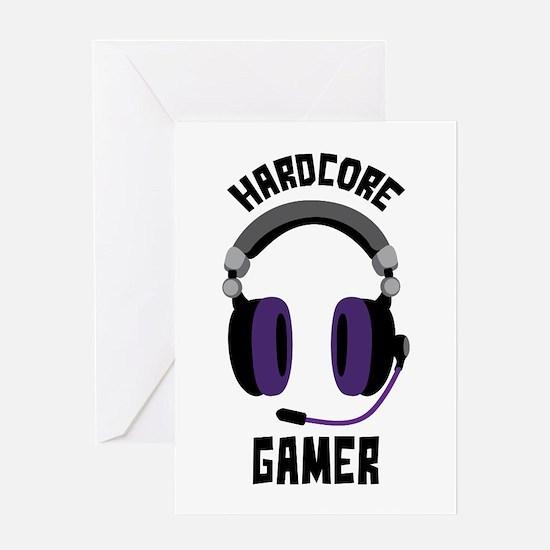 Hardcore Gamer Greeting Cards