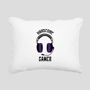 Hardcore Gamer Rectangular Canvas Pillow