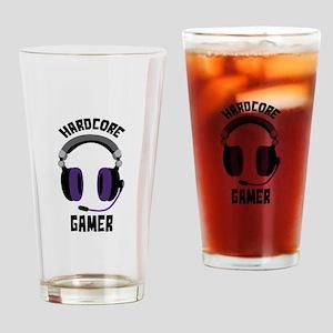 Hardcore Gamer Drinking Glass
