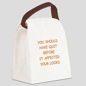 quit 2 Canvas Lunch Bag