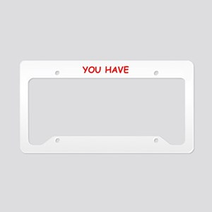 reality License Plate Holder