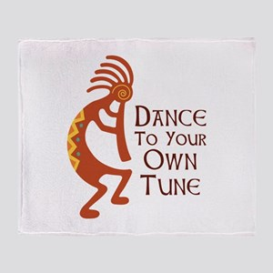 DANCE TO YOUR OWN TUNE Throw Blanket