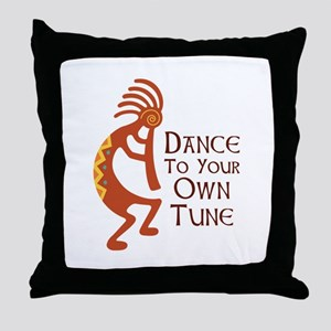 DANCE TO YOUR OWN TUNE Throw Pillow