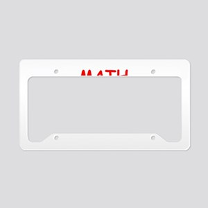math License Plate Holder