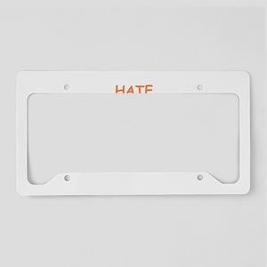 hate License Plate Holder