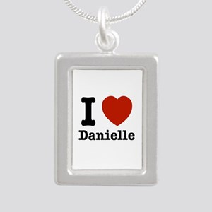 I love Danielle Silver Portrait Necklace