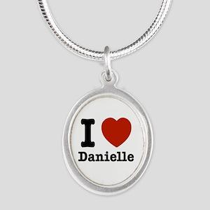 I love Danielle Silver Oval Necklace
