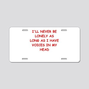 lonely Aluminum License Plate