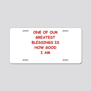 blessing Aluminum License Plate