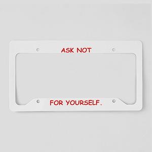 self inprovement License Plate Holder