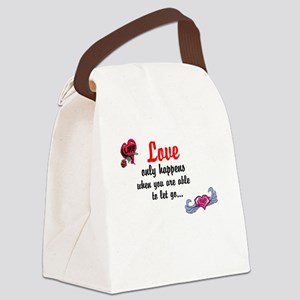 Love only happens when Canvas Lunch Bag