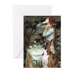Ophelia & Brindle Boxer Greeting Cards (Pk of 10)