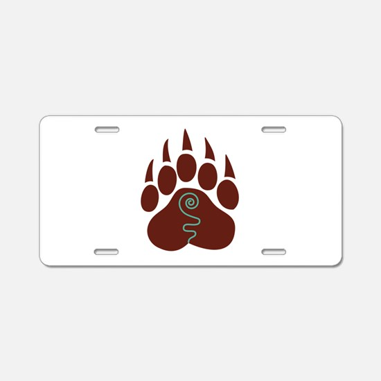 Native American Bear Claw Aluminum License Plate