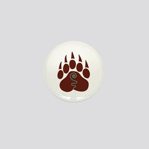 Native American Bear Claw Mini Button