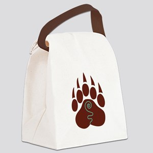 Native American Bear Claw Canvas Lunch Bag