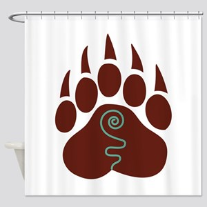 Native American Bear Claw Shower Curtain