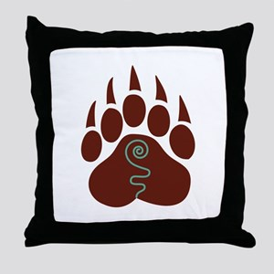 Native American Bear Claw Throw Pillow