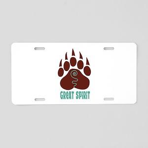 GREAT SPIRIT Aluminum License Plate