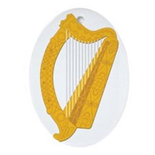 Harp-Ireland Coat Of Arms-2-Ornament (Oval) Orname