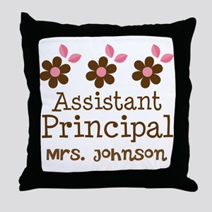 Personalized Assistant Principal Throw Pillow