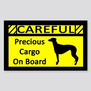 Precious Cargo Greyhound Rectangle Sticker