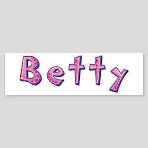 Betty Pink Giraffe Bumper Sticker