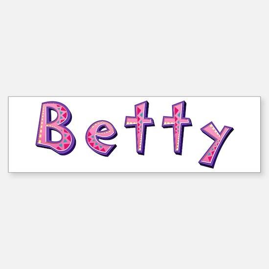 Betty Pink Giraffe Bumper Bumper Bumper Sticker