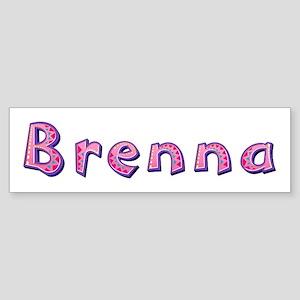 Brenna Pink Giraffe Bumper Sticker