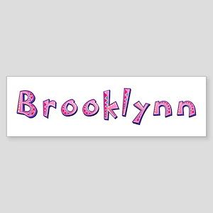 Brooklynn Pink Giraffe Bumper Sticker