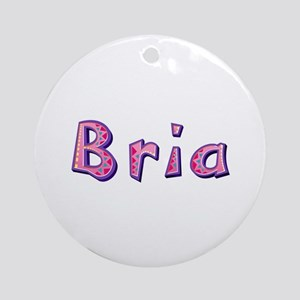 Bria Pink Giraffe Round Ornament