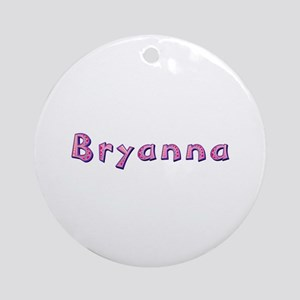 Bryanna Pink Giraffe Round Ornament