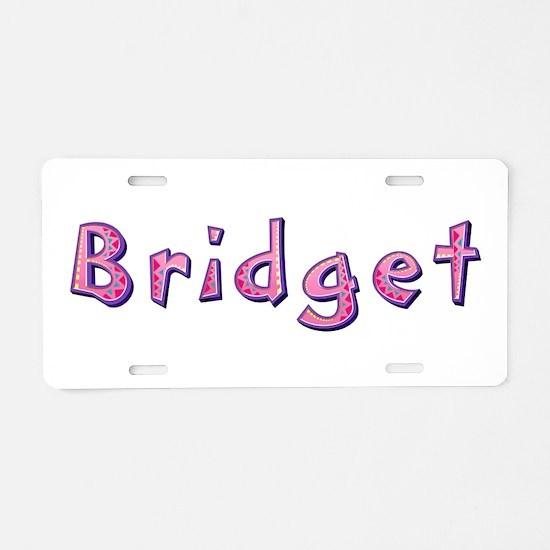 Bridget Pink Giraffe Aluminum License Plate