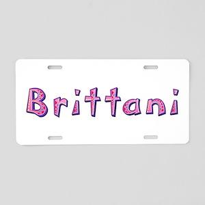Brittani Pink Giraffe Aluminum License Plate