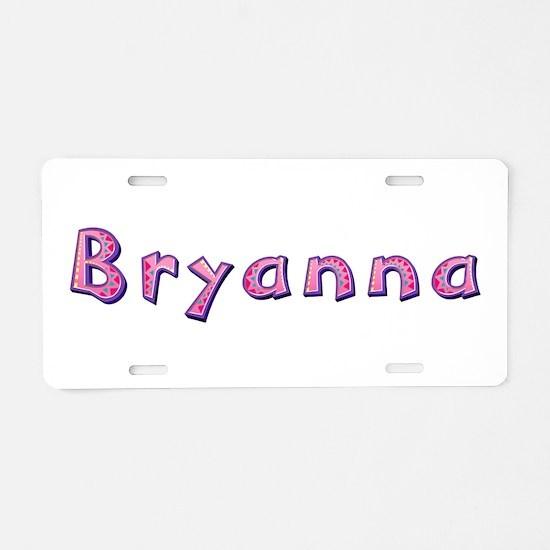 Bryanna Pink Giraffe Aluminum License Plate