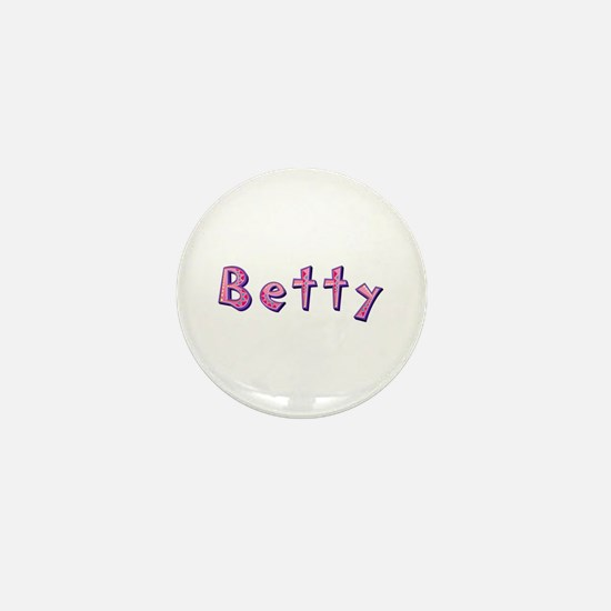 Betty Pink Giraffe Mini Button