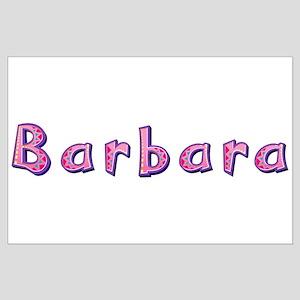 Barbara Pink Giraffe Large Poster