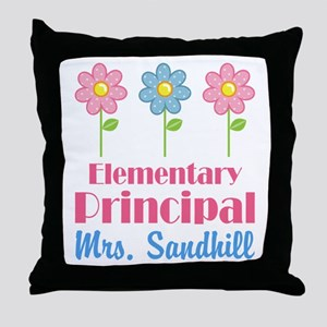 Elementary Principal Personalized Throw Pillow