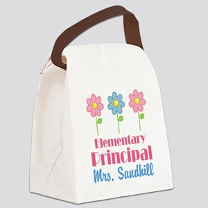 Elementary Principal Personalized Canvas Lunch Bag