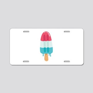 Popsicle Aluminum License Plate