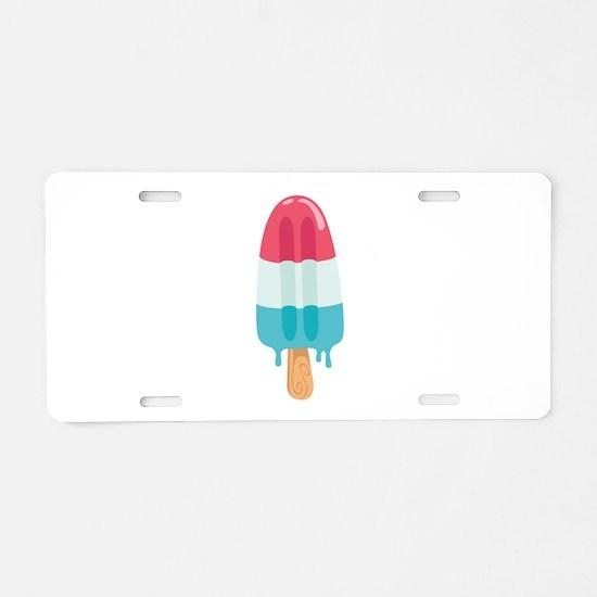 Popsicle Aluminum License Plate