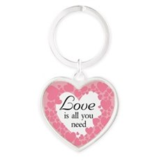 Love Is All You Need Heart Keychain