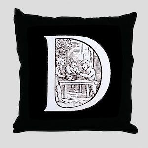 Double D/black Throw Pillow