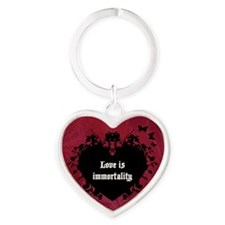 Love Is Immortality Heart Keychain