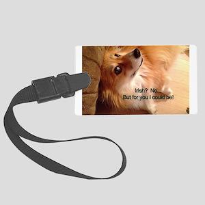 Irish Corgi Dog - Sober? Luggage Tag