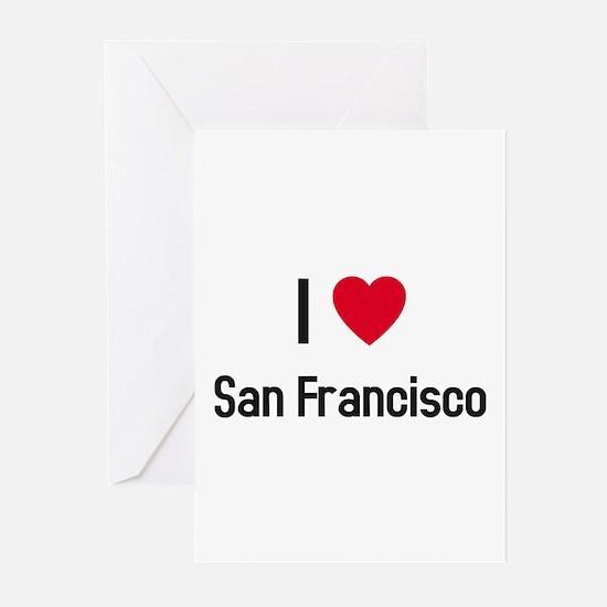 I love San Francisco Greeting Cards (Pk of 10)