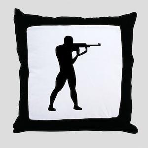 Sports shooting Throw Pillow